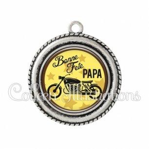 Pendentif résine Bonne fête papa (100JAU01)