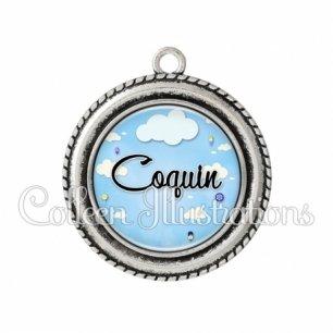 Pendentif résine Coquin (102BLE01)