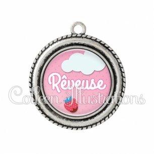 Pendentif résine Rêveuse (102ROS02)