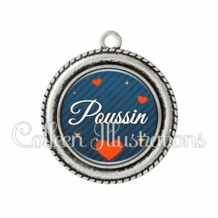 Pendentif résine Poussin (103BLE01)