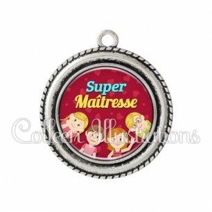 Pendentif résine Super maîtresse (105ROU01)