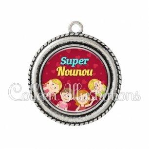 Pendentif résine Super nounou (105ROU01)