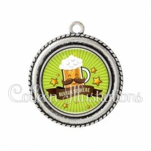 Pendentif résine Buveur de bière (106VER01)