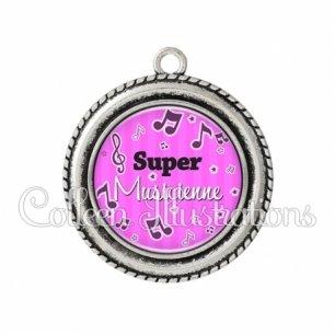 Pendentif résine Super musicienne (108ROS01)
