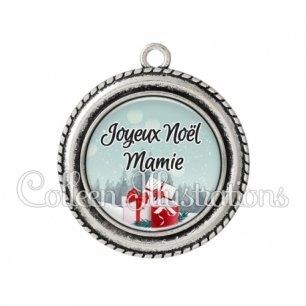 Pendentif résine Joyeux Noël Mamie (113BLE01)