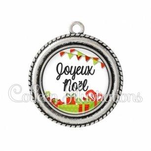 Pendentif résine Joyeux noël (115BLA01)