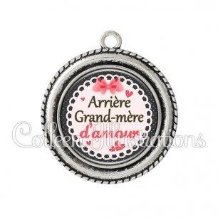 Pendentif résine Arrière grand-mère d'amour (005ROS01)