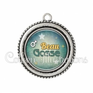 Pendentif résine Beau gosse (134VER01)