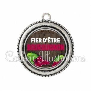 Pendentif résine Fier d'être bourguignon (137MAR04)