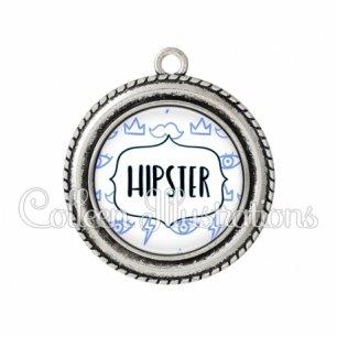 Pendentif résine Hipster (138BLA01)