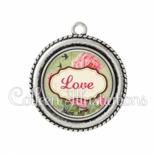 Pendentif résine Love (143MUL01)