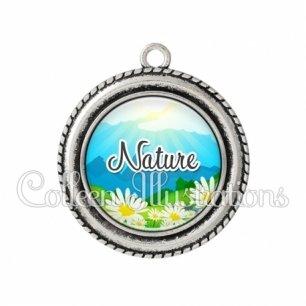 Pendentif résine Nature (145MUL01)