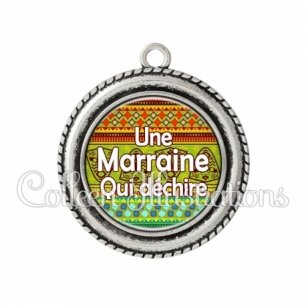 Pendentif résine Marraine qui déchire (149MUL01)