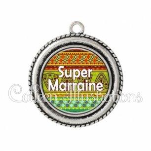 Pendentif résine Super marraine (149MUL01)