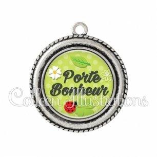 Pendentif résine Porte-bonheur (152VER01)