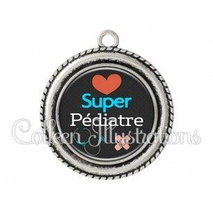 Pendentif résine Super pédiatre (155NOI01)