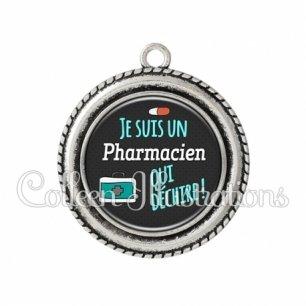 Pendentif résine Pharmacien qui déchire (156GRI01)