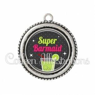 Pendentif résine Super barmaid (157GRI01)