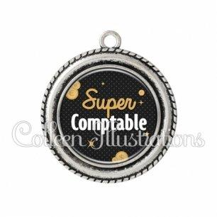 Pendentif résine Super comptable (158GRI01)
