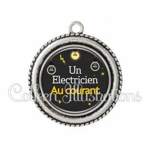Pendentif résine Electricien au courant (159GRI01)