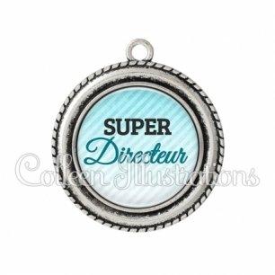 Pendentif résine Super directeur (164BLE01)