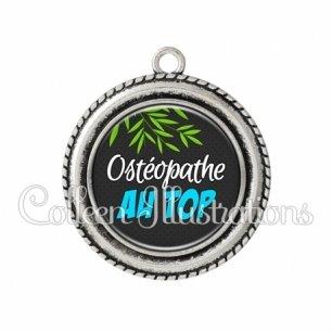 Pendentif résine Ostéopathe au top (165GRI01)