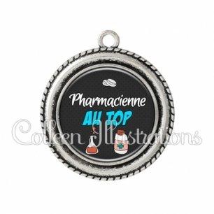 Pendentif résine Pharmacien au top (166GRI01)