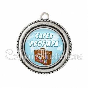 Pendentif résine Super prof APA (168BLE01)