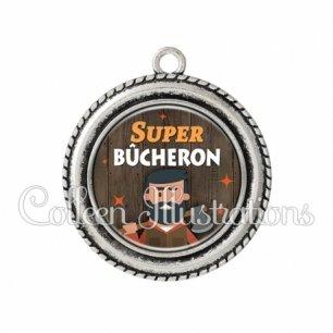 Pendentif résine Super bûcheron (170MAR01)