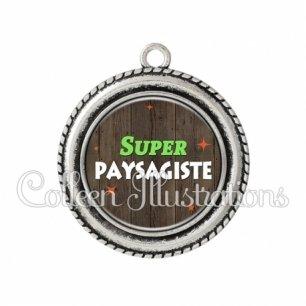 Pendentif résine Super paysagiste (170MAR02)