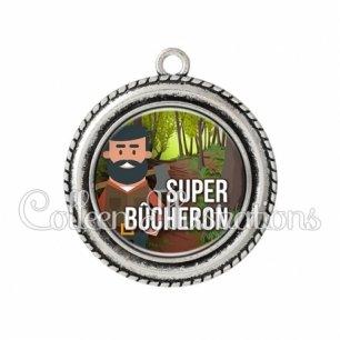 Pendentif résine Super bûcheron (171MUL01)