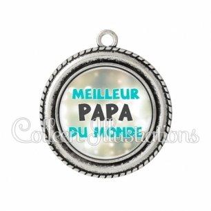 Pendentif résine Meilleur papa du monde (172GRI01)