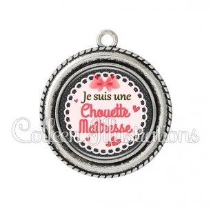 Pendentif résine Chouette maîtresse (005ROS01)