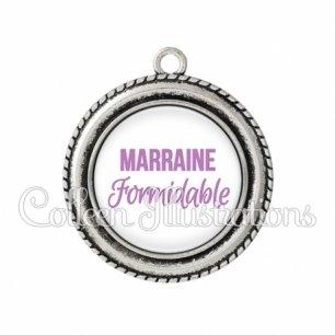 Pendentif résine Marraine formidable (181BLA03)
