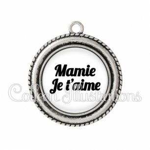 Pendentif résine Mamie je t'aime (181BLA11)