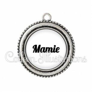 Pendentif résine Mamie (181BLA11)