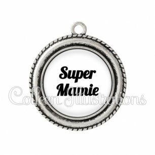 Pendentif résine Super mamie (181BLA11)
