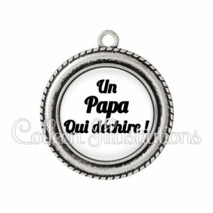 Pendentif résine Papa qui déchire (181BLA11)