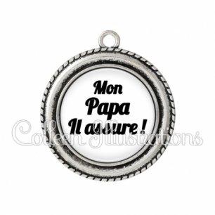 Pendentif résine Mon papa il assure ! (181BLA11)