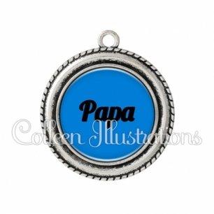 Pendentif résine Papa (181BLE03)