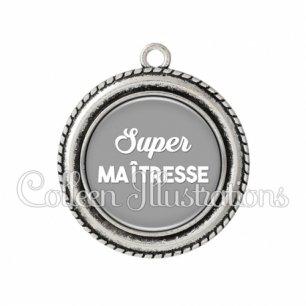 Pendentif résine Super maîtresse (181GRI01)