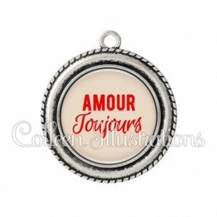 Pendentif résine Amour toujours (181MAR02)