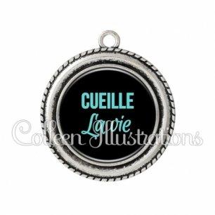 Pendentif résine Cueille la vie (181NOI04)