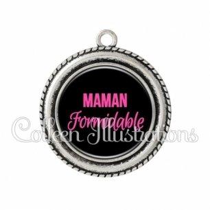 Pendentif résine Maman formidable (181NOI06)