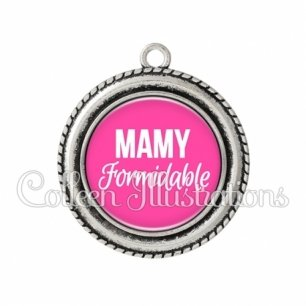 Pendentif résine Mamy formidable (181ROS04)
