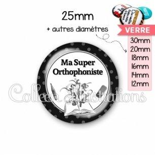Cabochon en verre Ma super orthophoniste (001NOI02)