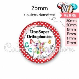 Cabochon en verre Une super orthophoniste (001ROU03)