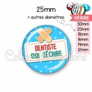 Cabochon en verre Dentiste qui déchire (003BLE02)