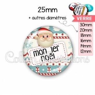 Cabochon en verre Mon 1er Noël (003MUL06)