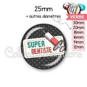 Cabochon en verre Super dentiste (003NOI05)
